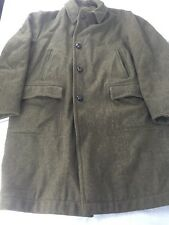 Vintage Men's McGregor USA Size 42 Green Wool Car Coat Fully Lined Faux Fur