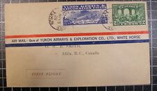 Yukon Airways - CL42 With Scott 146  - 13 Apr 1928 - Addressed to Atlin, BC