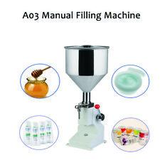 A03 New Manual Filling Machine (5-50ml) for Cream Shampoo Cosmetic Liquid Filler