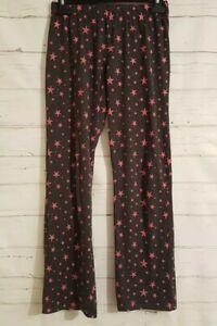 GEORGE Lounge Pants/Trousers SIZE 8-10 Grey/Pink STARS Casual Elasticated Pyjama