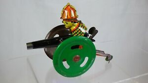 Vintage Cannonball Clown Tinplate Mechanical Circus Gunner Toy Tin Old Classic