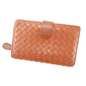 Bottega Veneta Wallet Purse Intrecciato Brown Woman Authentic Used Y2231