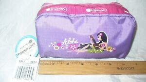NWT Lesportsac Aloha Mele Rectangular Cosmetic Pouch Hawaii Boutique Exclusive