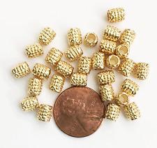 Bulk 300 light gold tube spacer beads 6x5mm , 3mm hole, alloy spacer beads