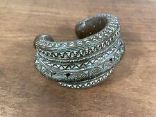 More details for african tribal art, benin bronze anklet bracelet currency artifact
