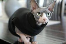 Sphynx Cat Shirt Clothing Jumper CoatBlack Ribbed Fleece