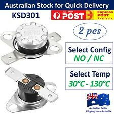 2x KSD301 Temperature Thermostat Thermal Switch - 250V 10A NO / NC Thermo Switch