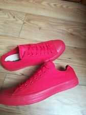 Mens Red All Star Converse Sneakers Size UK 9