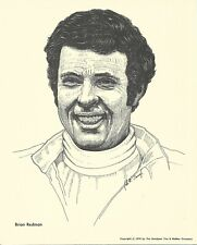Print: BRIAN REDMAN Portrait. 1976 Goodyear Tire. Auto Racing. Sports Car. Photo