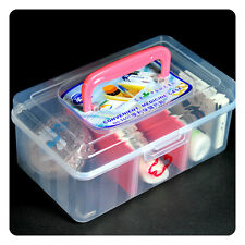 Transparent Family Health Medicine Chest Box First Aid