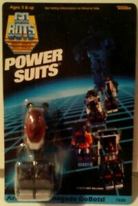 Tonka GoBots Power Suits Armor For Renegade GoBots GB P1 Unpunched Card New MISB