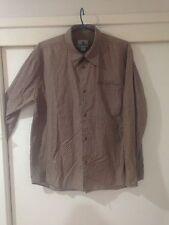 Colorado Men's Brown Geometric Print Button Front Shirt Size S Good Condition