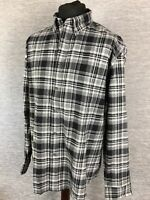 Marks and Spencer Mens Shirt Size Xl 44-46 Black Mix checkered Brushed Cotton