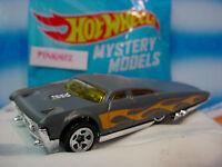2014 Mystery Models #03 SLIKT BACK∞#3 Gray w/Flames ∞w/Sticker∞Hot Wheels