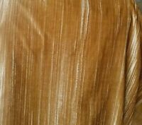 """CRUSHED VELVET Gold  52"""" wide, sold by yard"""