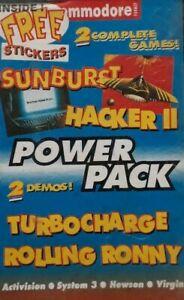 Power Pack 13 Commodore 64/128 Computer Video Game.1991 Future.Sunburst/Hacker 2