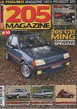 205 MAGAZINE 14 PEUGEOT 205 GTI 1.6 205 JUNIOR 205 RAID PEUGEOT 309 GTI 16