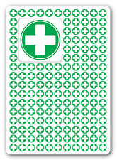 FIRST AID CROSS Circle health and safety signs/Sticker, warning, first aid 50x50