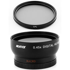 HD 0.45x Wide Angle Lens + CPL Filter for Panasonic Lumix DMC-G7 DMC-G7K camera