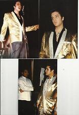 Elvis Presley: 5 Photo COLOR Set in Rare GOLD LAME JACKET (1957) & FREE LIVE CD