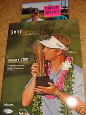 MICHELLE WIE Signed Autographed GOLF SONY OPEN PROGRAM LPGA COA PROOF PHOTO