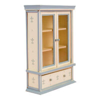 1:12 Dolls House Miniature Furniture Wood Cabinet Bookcase with Drawer Decor