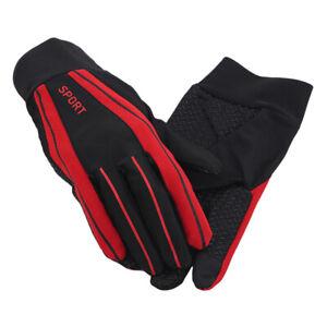 1 Pair Full Finger Cycling Gloves Sun-proof Lightweight Mittens Touchscreen BB
