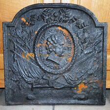 Plaque de cheminée en fonte fin XVIIIe - Buste de George Washington