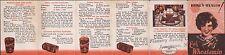 1931 MINIATURE ADVERTISING BROCHURE bread, bakery EAT WHEATAMIN - HERE'S HEALTH!