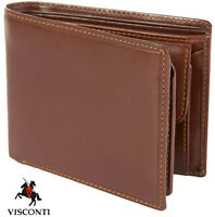 **SALE** Visconti Brown Real Leather Bifold Wallet - MZ4 Gift Boxed £14.99 BNWT