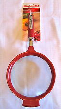 KitchenAid Red Classic Large Strainer Stainless Steel 7 Inches