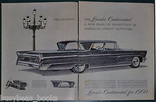 1960 LINCOLN CONTINENTAL 2-page advertisement, Continental Mark V, 4-door sedan