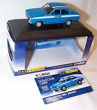 VANGUARDS Ford Escort MK1 Mexico Electric Monza Blue VA09521 ltd ed