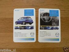 MAZDA 3 CAR 2 CARDS  KWARTET KAART, QUARTETT CARD,SPIELKARTE