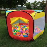 Kids Play House Indoor Outdoor Easy Folding Ball Pit Hideaway Tent Play Hut Gift