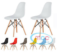 Eames Inspired DSW Dining Chairs With Wooden Legs Eiffel Retro Lounge LIA
