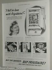 1941 Frigidaire refrigerator advertisement page, GM, open fridge