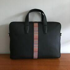 Paul Smith Mens Mainline Folio Bag - Brand New - Black with Shoulder Strap