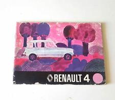 Manuale uso e manutenzione RENAULT 4 USATO ORIGINALE EPOCA libretto manutenzione