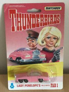 1992 MATCHBOX THUNDERBIRDS LADY PENELOPES ROLLS-ROYCE FAB 1 NEW SEALED