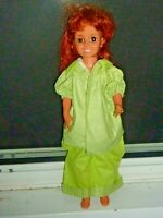 """CRISSY 18"""" Ideal Doll 1968 Red Grow Hair Works Good Redressed  (H9 12)"""
