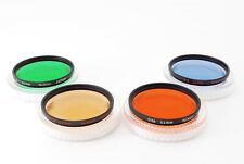 **4 Colors** Genuine Nikon 52mm Filter 4 Colors Screw-In w/Cases Japan 636443