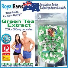 Green Tea Extract 200 x 500mg capsules loss health burner antioxidant weight fat