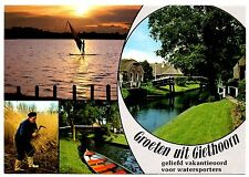 Geithoorn Postcard Netherlands Overjissel Greetings Watersports Canal Boat Sail