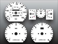 1994-1999 Land Rover Discovery Dash Instrument Cluster White Face Gauges
