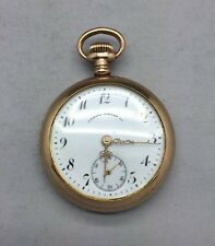 VINTAGE CLEMENS OSKAMP JEWELRY COMPANY POCKET WATCH - RUNNING - GOLD FILLED