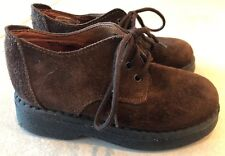 Nordstrom Boys European Collection Brown Suede Tie Shoes Made In Italy Size 10.5