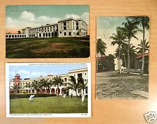 3 Postcards Colon Panama Canal Zone Washington Hotel Croquet Wash. St. 1910-20's