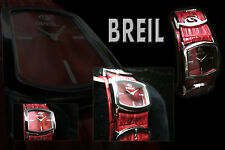 BREIL WOMEN'S WATCH IN RED, Fancy Design, Red Daith Leather Band