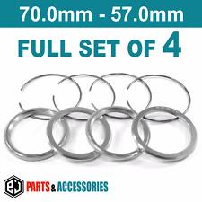70.0 - 57.0 Spigot Rings Hub Rings FULL SET BBS wheels aluminium spacers rings